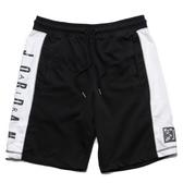 NIKE JORDAN 球褲 AJ LOGO 黑 側邊英文 棉褲 短褲 (布魯克林) CD5756-010