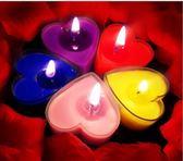 緣夢春天創意無煙心形浪漫蠟燭求婚生日錶白擺圖佈置愛心小蠟燭XW