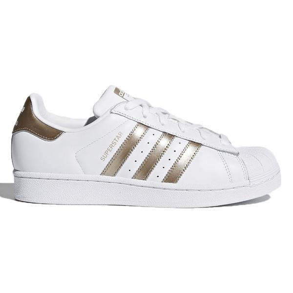 Adidas Superstar 女鞋 休閒 復古 金標 貝殼頭 白 玫瑰金 【運動世界】 CG5463