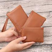 零錢包卡包簡約手包手拿包超薄拉鏈手機包硬幣小錢袋【父親節鉅惠85折】