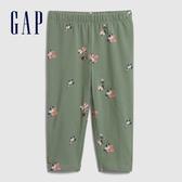 Gap女幼童趣風格印花鬆緊腰休閒褲576785-橄欖色花紋