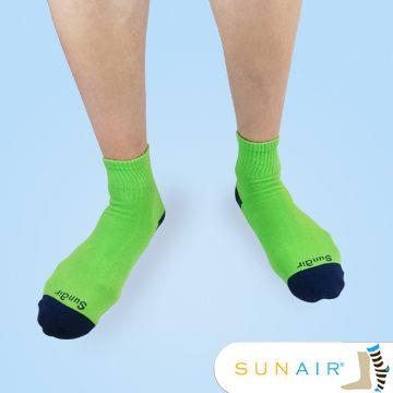sunair 滅菌除臭襪子-自行車運動薄襪 短筒 (L25~29) (綠+藍) /SA3104
