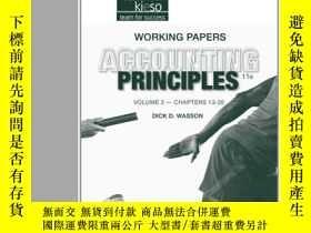 二手書博民逛書店Working罕見Papers Volume Ii To Accompany Accounting Princip