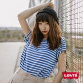 Levis T恤 女裝 / 短袖純棉TEE / 圓領 / 藍白條紋