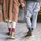【TT】襪子 堆堆襪 粗線韓系男襪女襪 復古民族風森系情侶中筒短靴棉襪