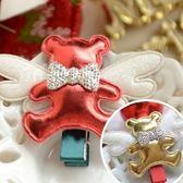 UNICO 韓版 兒童聖誕天使小熊造型髮夾