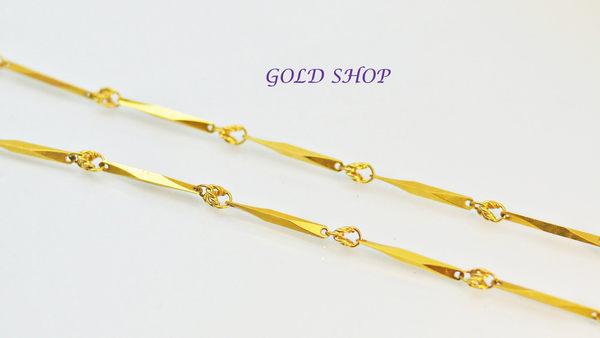 ╭☆ gold shop ☆╯750 黃18K金 項鍊 40公分[ kn 055 ]-1.38