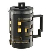 金時代書香咖啡   TIAMO 幾何圖文法式濾壓壺 800cc 黑  HG2115BK
