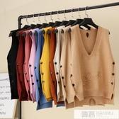馬甲女冬短款針織背心新款韓版寬鬆網紅同款2019秋季上衣百搭馬夾 韓慕精品