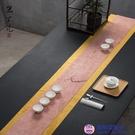 中式茶藝茶臺桌布茶墊定做手繪防水茶席麻布禪意布藝桌旗【櫻桃菜菜子】