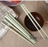 筷子 雙槍稻殼筷子日式筷家用兒童健康小麥筷彩色10雙套裝成人衛生餐具 全館滿額85折