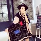 羊毛絨長披肩-流行風車印花設計女圍巾4色73hy12【時尚巴黎】