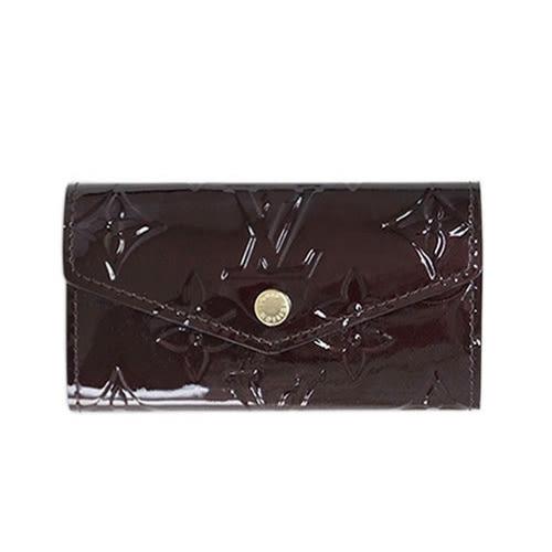 茱麗葉精品 全新精品 Louis Vuitton LV M90909 Vernis皮革經典壓花4孔鑰匙包.紫紅(預購)