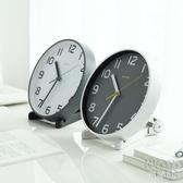 擺鐘 客廳座鐘臺式鐘表擺件歐式創意臺鐘臥室擺鐘靜音時鐘桌面小掛鐘 京都3C