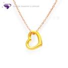 【元大珠寶】『心型圈』黃金墜 加贈玫瑰銀鍊-純金9999國家標準
