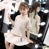 女童漢服夏款連身裙寶寶長袖民族風兒童唐裝旗袍10歲女孩古裝超仙 yu12990『寶貝兒童裝』