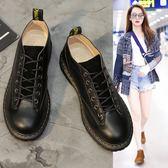 大尺碼女鞋 韓版情侶款圓頭小皮鞋~3色