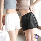 內搭短褲 寬鬆安全褲女防走光夏季薄款緞面外穿內搭不捲邊打底保險三分短褲 2色【快速出貨】