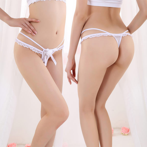 蕾絲透紗性感低腰無痕內褲 丁字褲【BTDI-10T73】