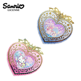 【  】三麗鷗心型飾品盒置物盒收納盒桌面收納凱蒂貓雙子星Sanrio 674888 674901