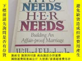 二手書博民逛書店HIS罕見NEEDS HER NEEDS(英文),Y200392