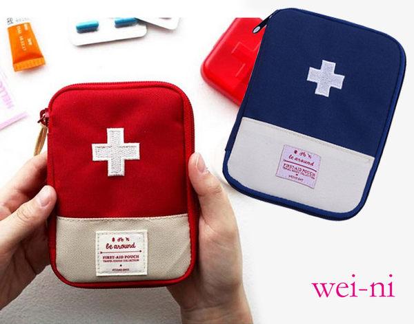 wei-ni 旅行隨身WeekEight急救包(大) 隨身藥物整理袋 旅行藥物收納袋 可當簡易3C收納包 隨身萬用包