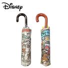 【日本正版】迪士尼 輕量型 晴雨傘 耐風骨 附傘套 摺疊傘 雨傘 小熊維尼 奇奇蒂蒂 097663 097687