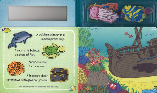 【幼兒海洋認知遊戲書】PLAY FELT OCEAN ANIMALS / 不織布黏貼書