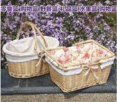 郊游野餐小籃子踏青野炊踏春ins網紅野餐用品必備編織籃面包菜 台北日光