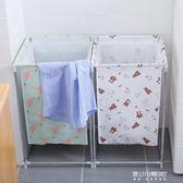 北歐簡約家用棉麻臟衣服收納筐可折疊支架防水超大臟衣籃簍儲物箱    東川崎町YYS
