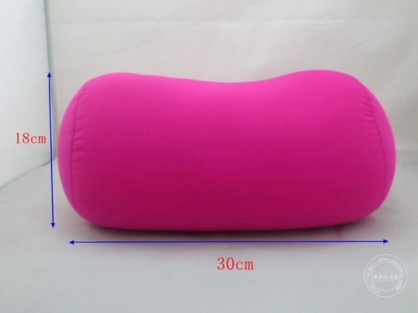 高檔純色奈米微粒(粒子)圓柱抱枕(桃紅色) 車用靠枕 /午安枕
