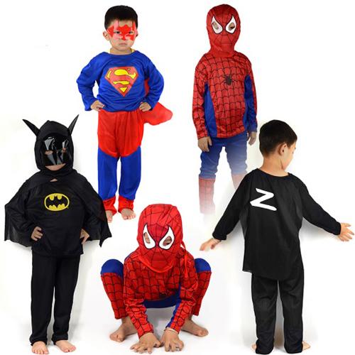 萬聖節化裝舞會表演服裝 超人/蜘蛛人 B7K014 AIB小舖