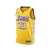 Nike 球衣 LeBron James Lakers City Edition NBA Jersey 黃 紫 男款 湖人 【PUMP306】 AV4646-729