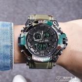 戶外手錶-男士手錶運動防水電子錶雙顯戶外男錶時尚實用 提拉米蘇