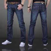 薄款牛仔褲男夏季休閒褲男士修身直筒青年寬鬆秋款褲子男褲Nzk  莉卡嚴選