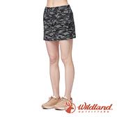 【wildland 荒野】女 彈性50+ 抗UV兩件式迷彩短裙『迷彩灰』0A91345 戶外 休閒 運動 吸濕 排汗 快乾
