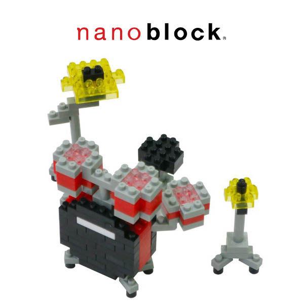 【日本 Kawada 河田】Nanoblock 迷你積木 紅色爵士鼓 NBC-123
