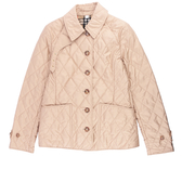 【BURBERRY】菱格紋薄款輕型外套(淺駝色) M、L號 8023321 A1470