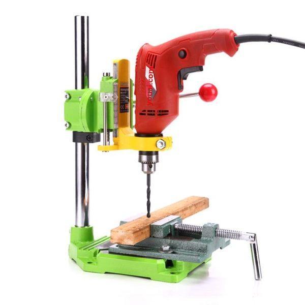 手電鑽支架電磨支架 多功能家用木工固訂架子萬用電鑽變台鑽 英雄聯盟