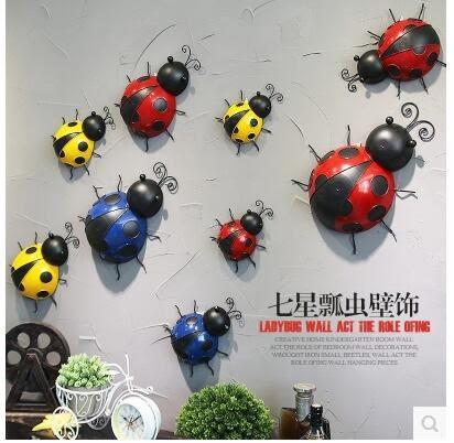 【彩虹部落】工業風動物挂件立體牆飾臥室鐵藝裝修飾品餐廳壁飾牆面裝飾品【大號】