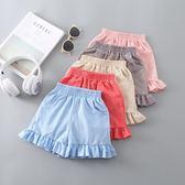 短褲 女童短褲新款洋氣夏裝薄款寶寶沙灘五分褲熱外穿純棉兒童褲裙 艾美時尚衣櫥