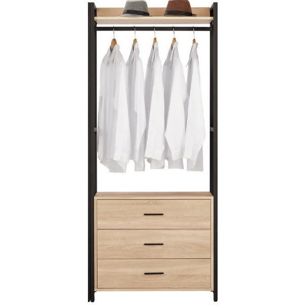 衣櫃 衣櫥 MK-071-3 艾麗斯2.6尺三抽衣櫥 【大眾家居舘】