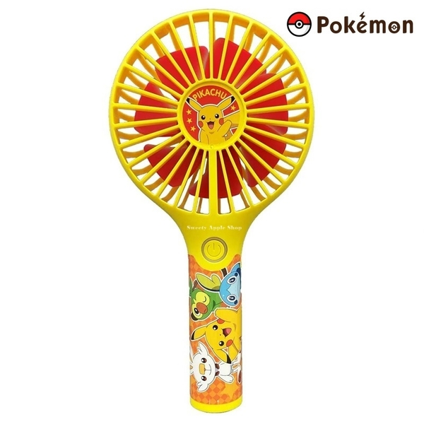 日本限定 TAKARA TOMY 寶可夢 皮卡丘 怪物大集合 3段式風量 攜帶型 USB充電 電風扇/手持風扇/涼扇