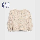 Gap嬰兒 彩色織紋圓領針織衫 601984-燕麥混色