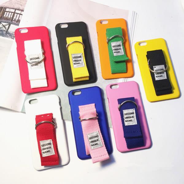 Qmishop 韓國可愛帆布臂帶手機殼 手機套 iPhone【QJ1365】
