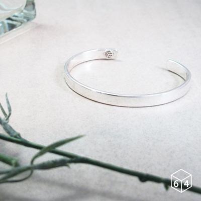 手環/手鐲 品牌C型手環 (亮面-大) 999純銀手環-64DESIGN