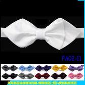 De Fy 蝶衣 白色 鑽石三角領結雙層蝴蝶結尖頭領結結婚派對聚餐表演伴郎吧台PA02 11