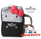 Kitty 精品後背包 手提包 斜背包 Hallmark 聯名 凱蒂貓 3way 灰色 該該貝比日本精品 ☆