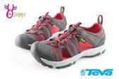 美國TEVA 中童護趾涼鞋 透氣 避震 繩索式 水陸機能涼鞋I6753#灰橘◆OSOME奧森童鞋
