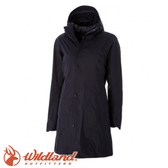【Wildland 荒野 女款 長版PR棉輕量防水外套《黑》】0A52901/防風/防水/長版外套